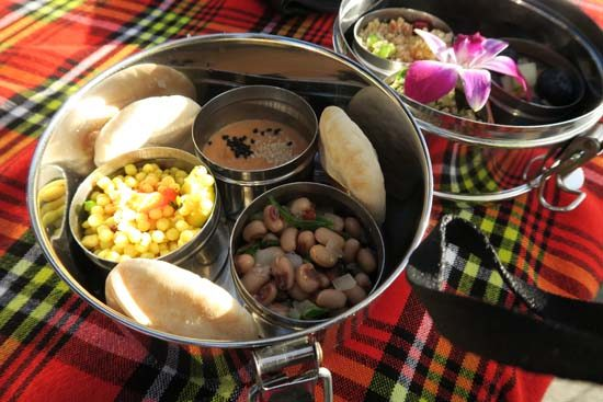 picnic on the wild africa trek, dishes from tusker house