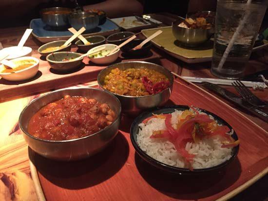 vegan dishes from sanaa, at animal kingdom lodge