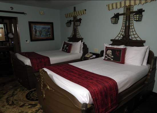 Pirate ship beds at Caribbean Beach Resort