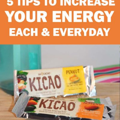 5 tips to staying energized all day, with Kicao energy bars