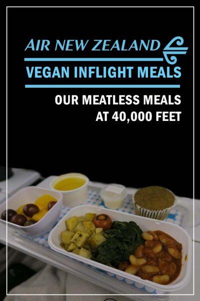 Air New Zealand Vegan inflight Meals