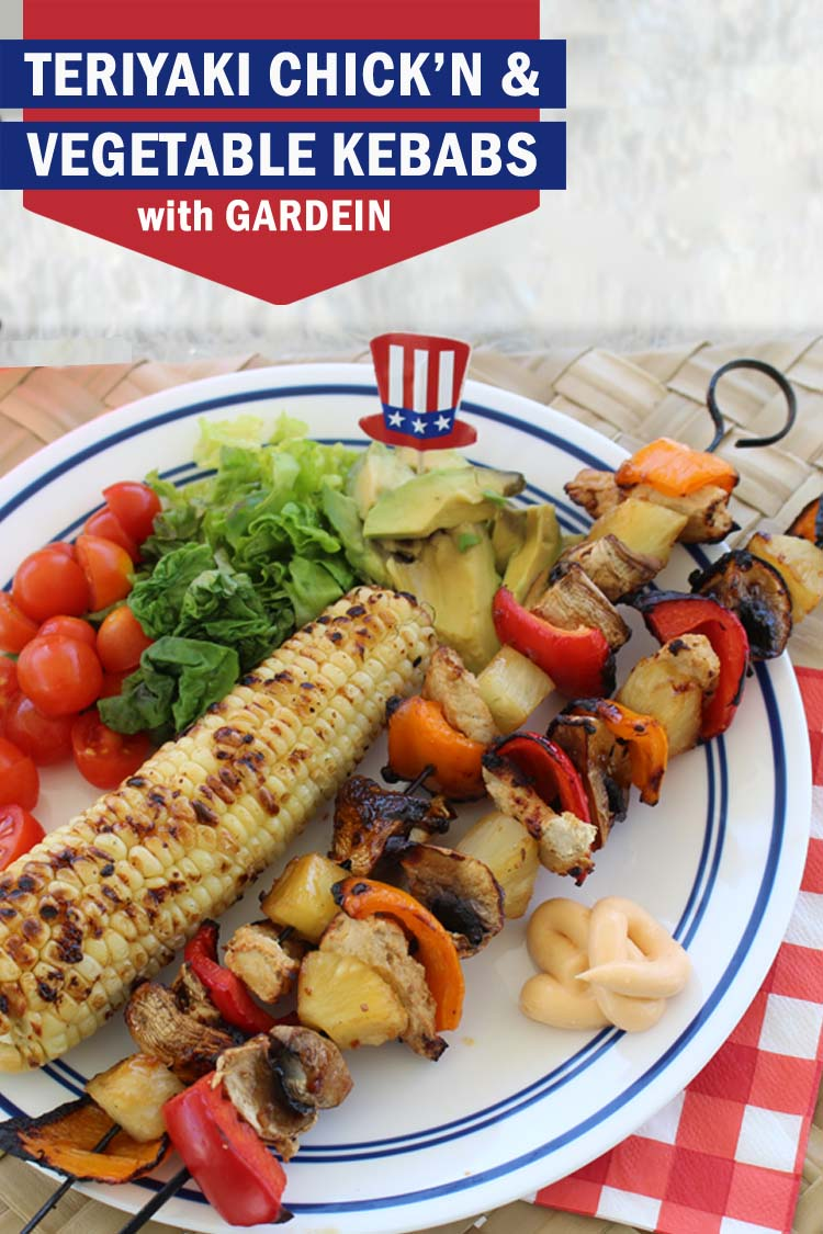 Gardein Teriyaki Chick'n & Vegetable Kebabs