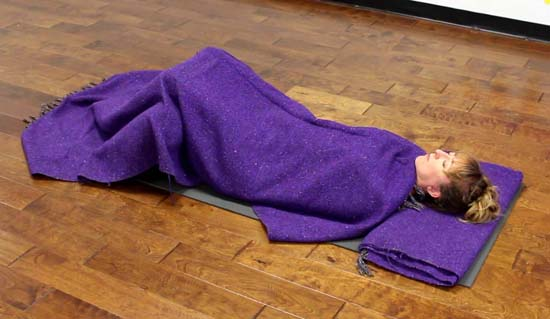 how to do savasana
