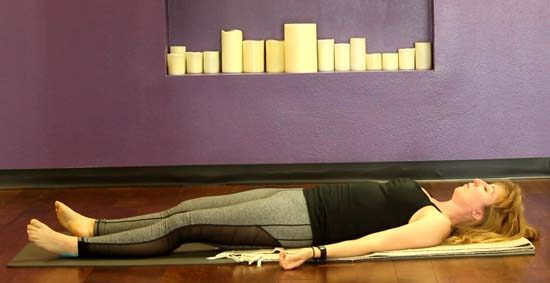 mindfulness in yoga laying to seated