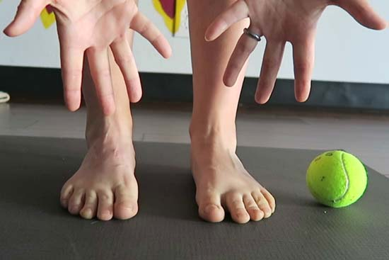 yoga for tired feet