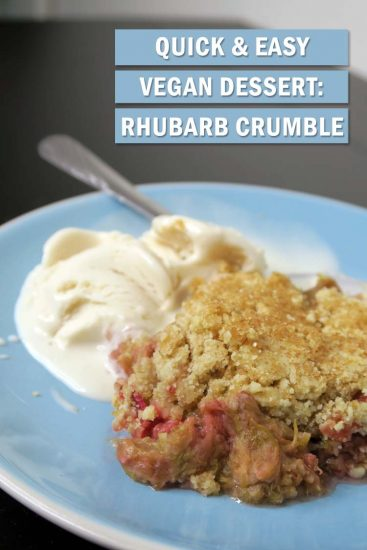 Winter makes us crave warm dishes, and dessert is no different. This Vegan Rhubarb Crumble recipe is a little taste of home [England], but dairy-free.
