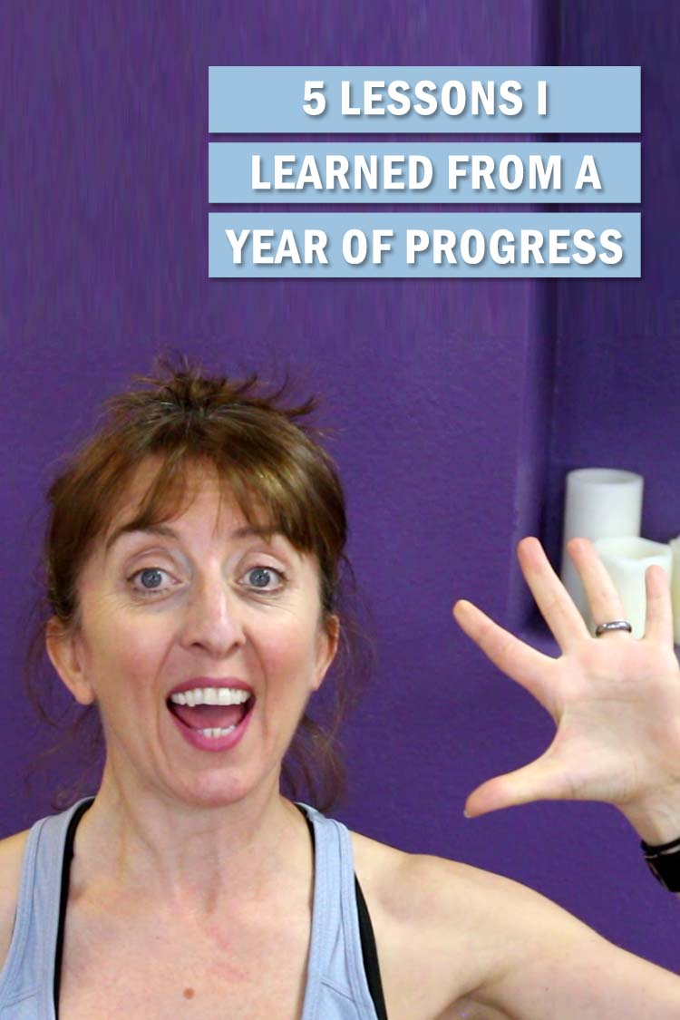"Each year I choose one word to guide me through the year. 2019 in review. Here I share 5 lessons I learned from a year of ""progress"" as my one word."