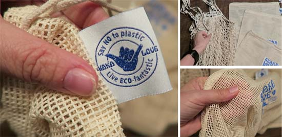 SHAKA LOVE reusable grocery and produce bags