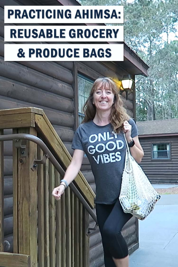 Reducing your impact on the planet is part of a yoga practice. Be eco-friendly, with these 100% organic reusable grocery and produce bags by Shaka Love.