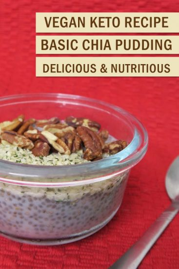Chia is all the rage due to its amazing omega 3-6 complex. Boost your omega 3's with this vegan keto chia pudding recipe. Quick, easy and delicious!