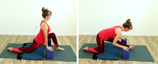 low lunge to half split