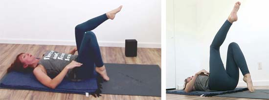 single leg table top exercise knee