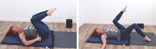 single leg table top exercise knees in