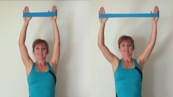 10 minute resistance band workout lats pull down