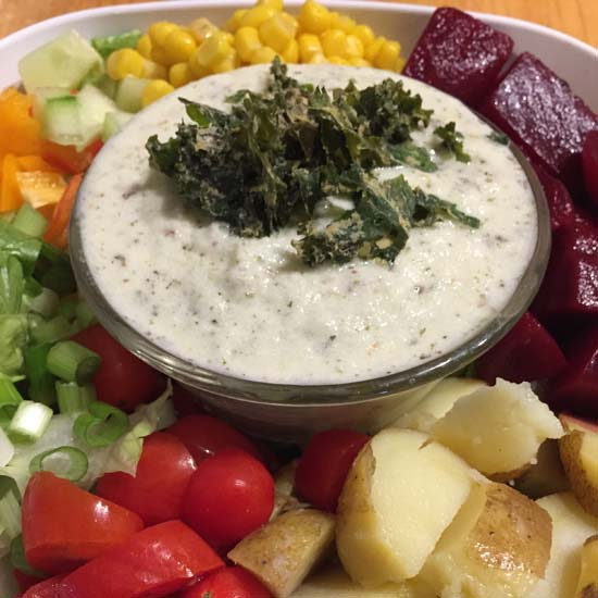 MEATLESS MONDAY veggie salad dip dressing