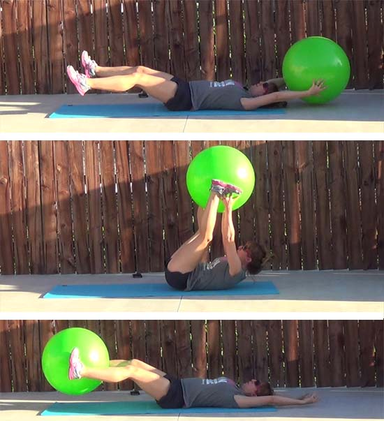 fitness ball core workout