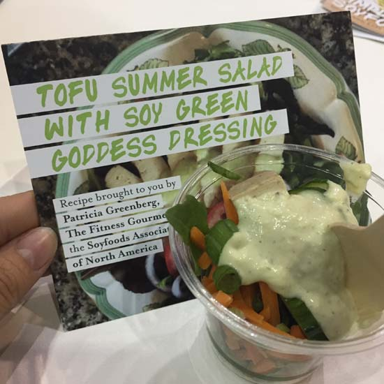 soy foods - tofu summer salad with soy green goddess dressing