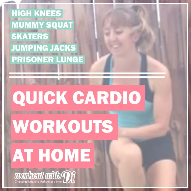 quick cardio workouts at home