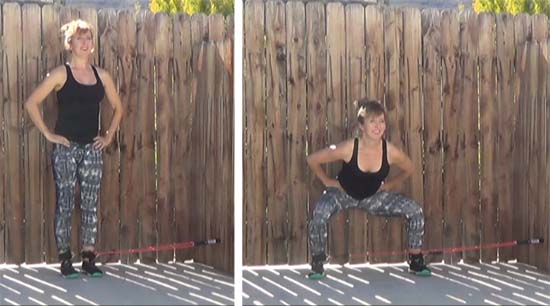 Resistance tube exercises for legs and glutes