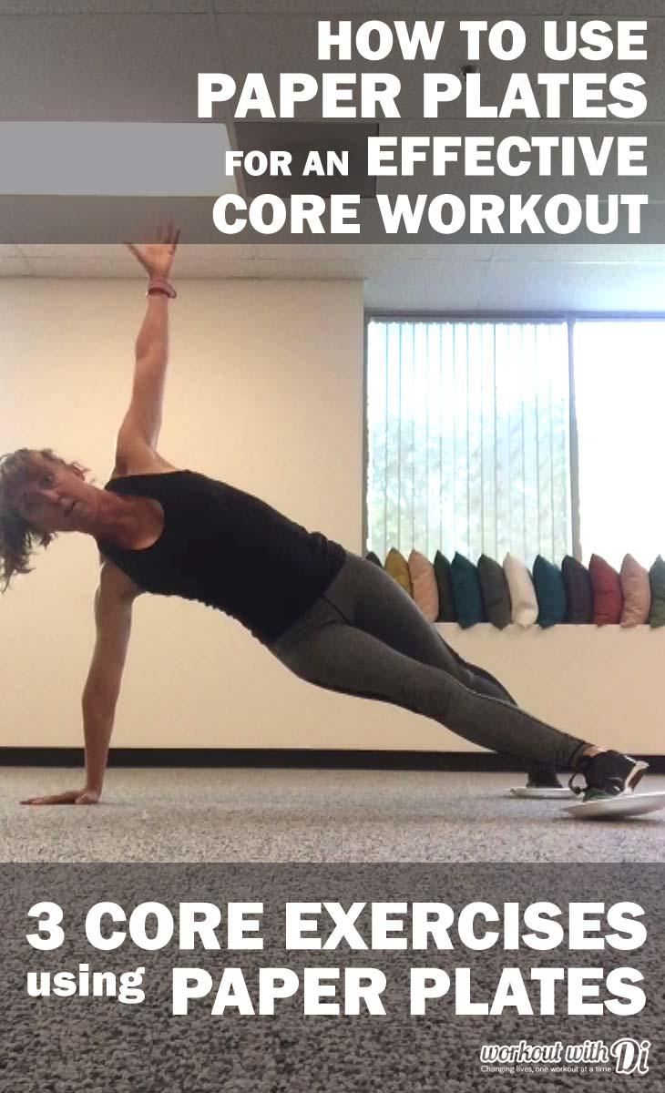 paper plates core workout