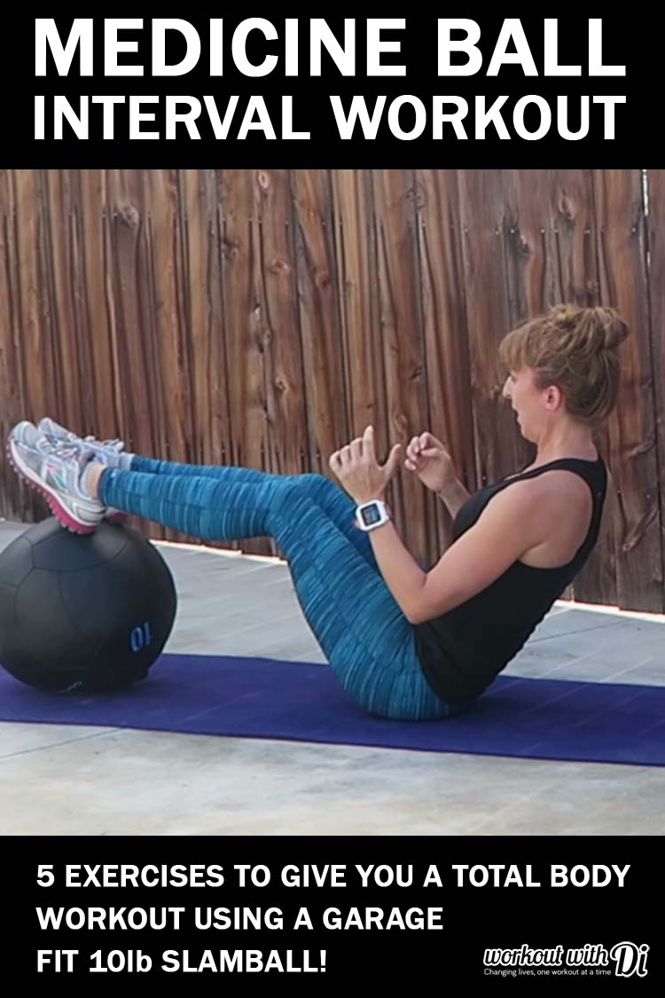 garage fit medicine ball interval workout