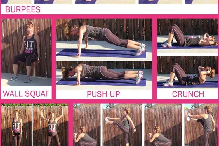 INTERVAL WORKOUT 1 NO EXCUSES BOOTCAMP PIN FEAT