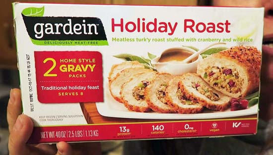 Boxed gardein holiday roast package