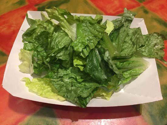 Side salad at old port royale food court