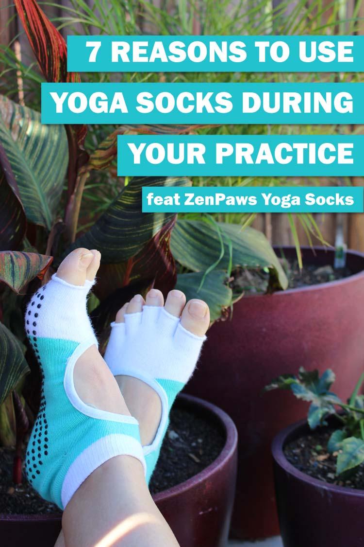 zen paws yoga socks feat pin