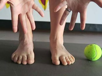 yoga for tired feet