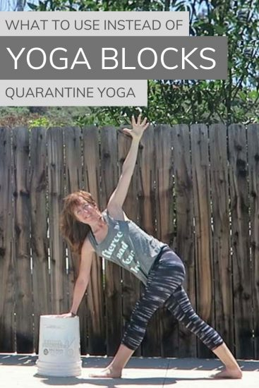 What to use instead of yoga blocks, quarantine yoga