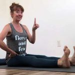 how to do dandasana feet apart