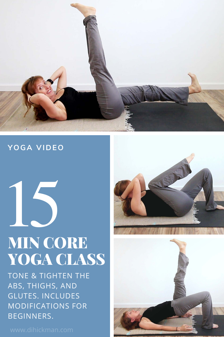 15 min core yoga class to tone & tighten the abs, thighs and glutes.