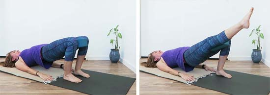 10 minutes to work the core and more, in this yogalates workout for beginners.