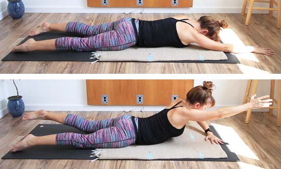 back extension with opposite arm/leg