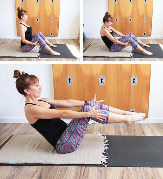 boat pose sequence