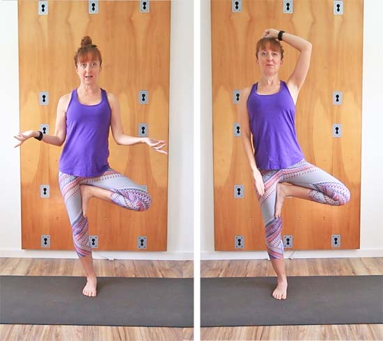 tree pose alignment