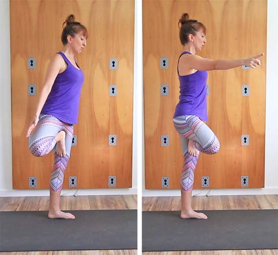 Demonstration of rotation coming from spine, rather than hip.