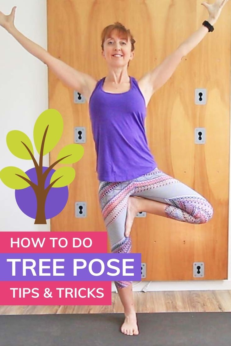 How to do tree pose. Level up your yoga practice with this step by step tutorial of vrksasana. Plus modifications and variations to make it more accessible. Including using a chair for support. Also included are alignment tips & tricks for the hips, feet, and arms. Level up your yoga practice