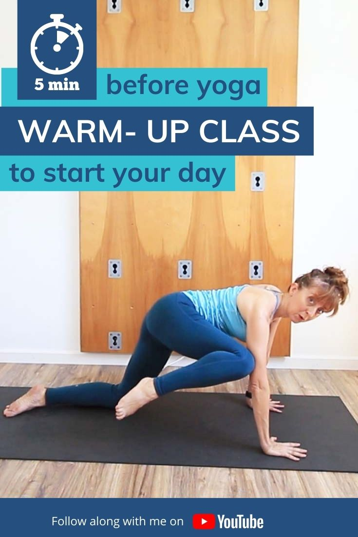This is a quick 5 min yoga warm up to for before your yoga practice or to prepare you for the day. Whether you are doing this first thing in the morning, or just as a way to mobilize for your yoga this is a great way to warm up and stretch. It's also a perfect 5-minute yoga routine for beginners.