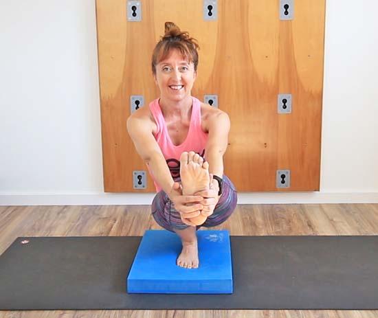 yoga balance pad pistol squat