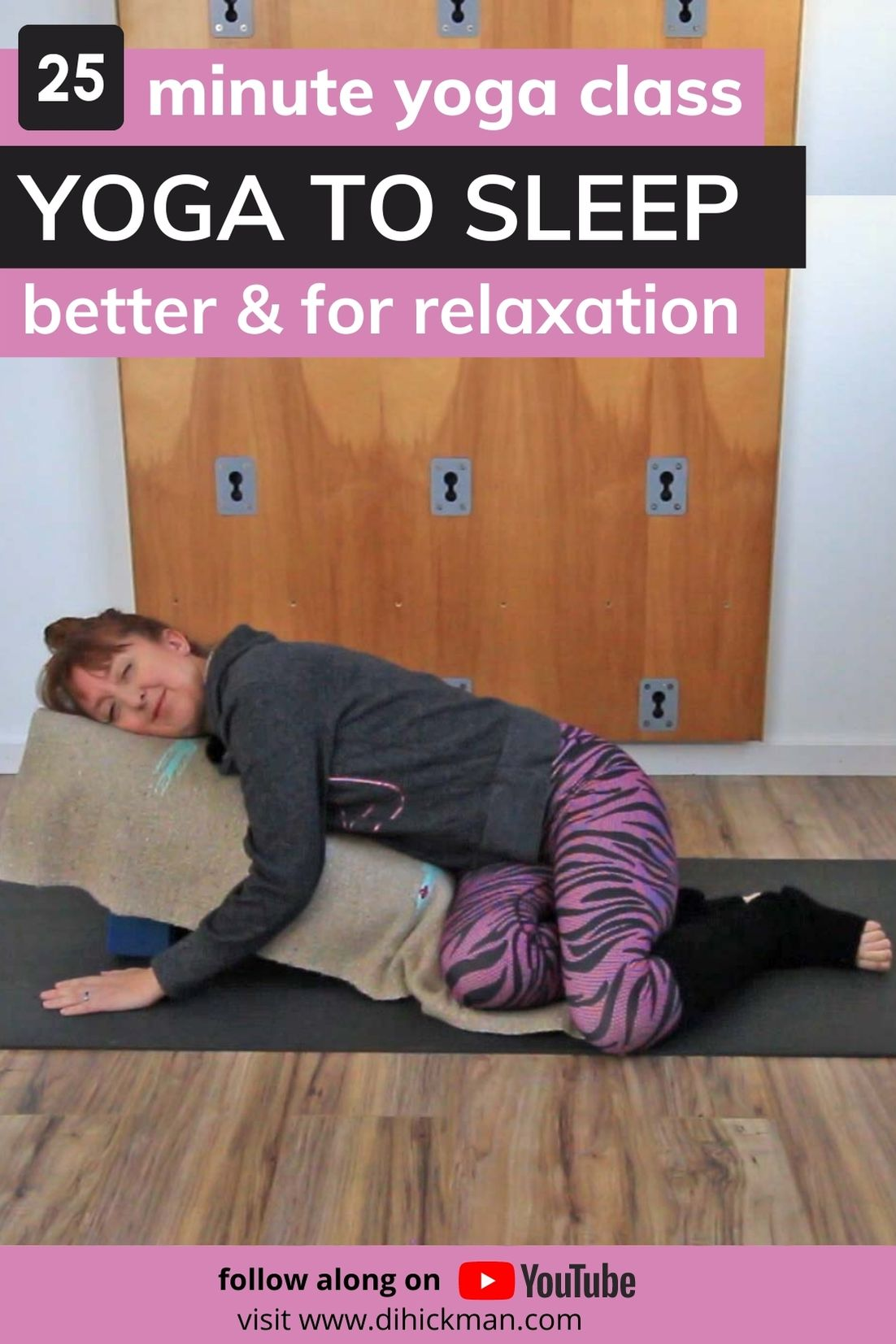 25 minute yoga class, Yoga to sleep better & for relaxation