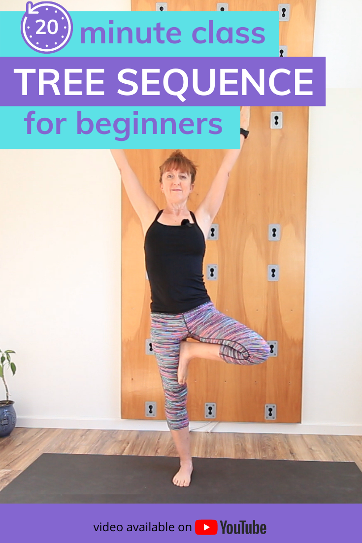 20 minute tree pose sequence for beginners