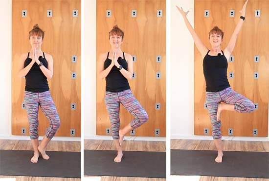 three tree pose modifications