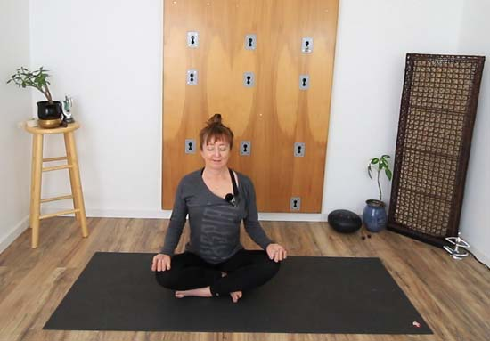 sukhasana easy seated pose