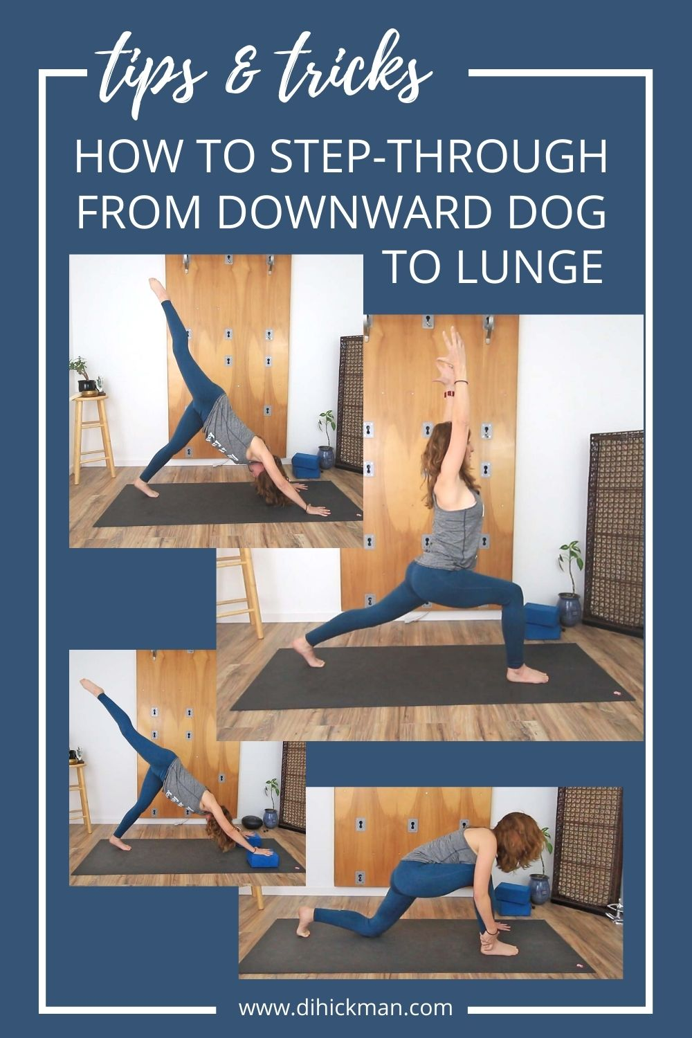 tips & tricks, how to step through from downward dog to lunge
