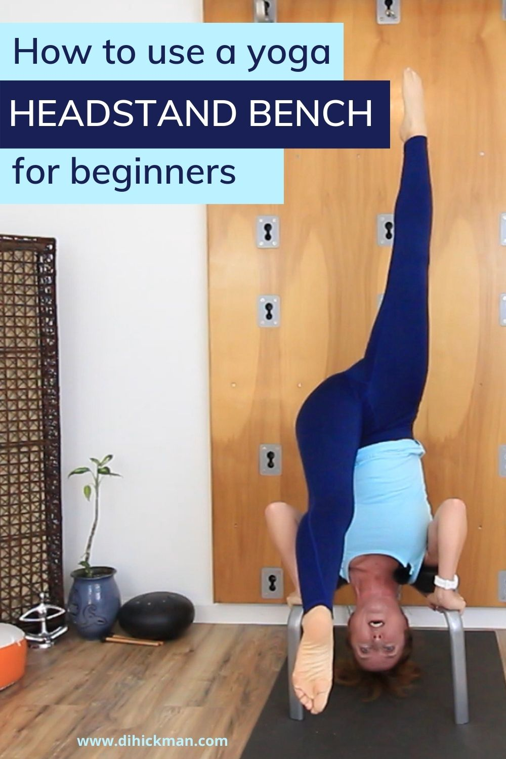 How to use a yoga headstand bench for beginners