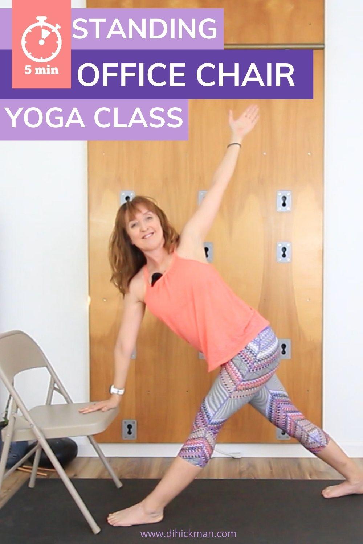 5 min standing office chair yoga class