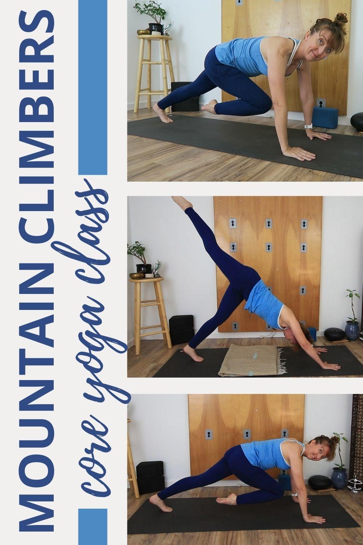 mountain climbers core yoga class