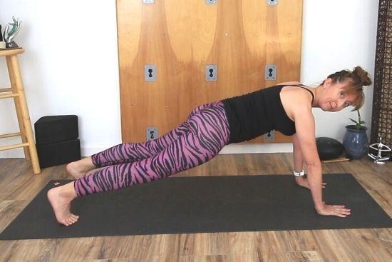 high plank yoga pose